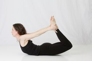 Bow Pose, Dhanurasana, hatha yoga, laura erdman-luntz